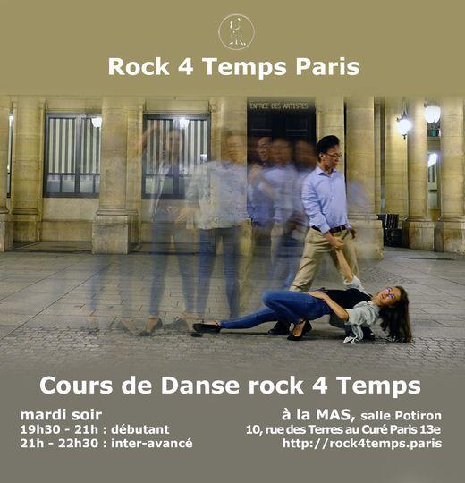 Cours hebdomadaire Danse rock 4 Temps | Débutant & Inter-avancé, 6 April | Event in Arcueil | AllEvents.in