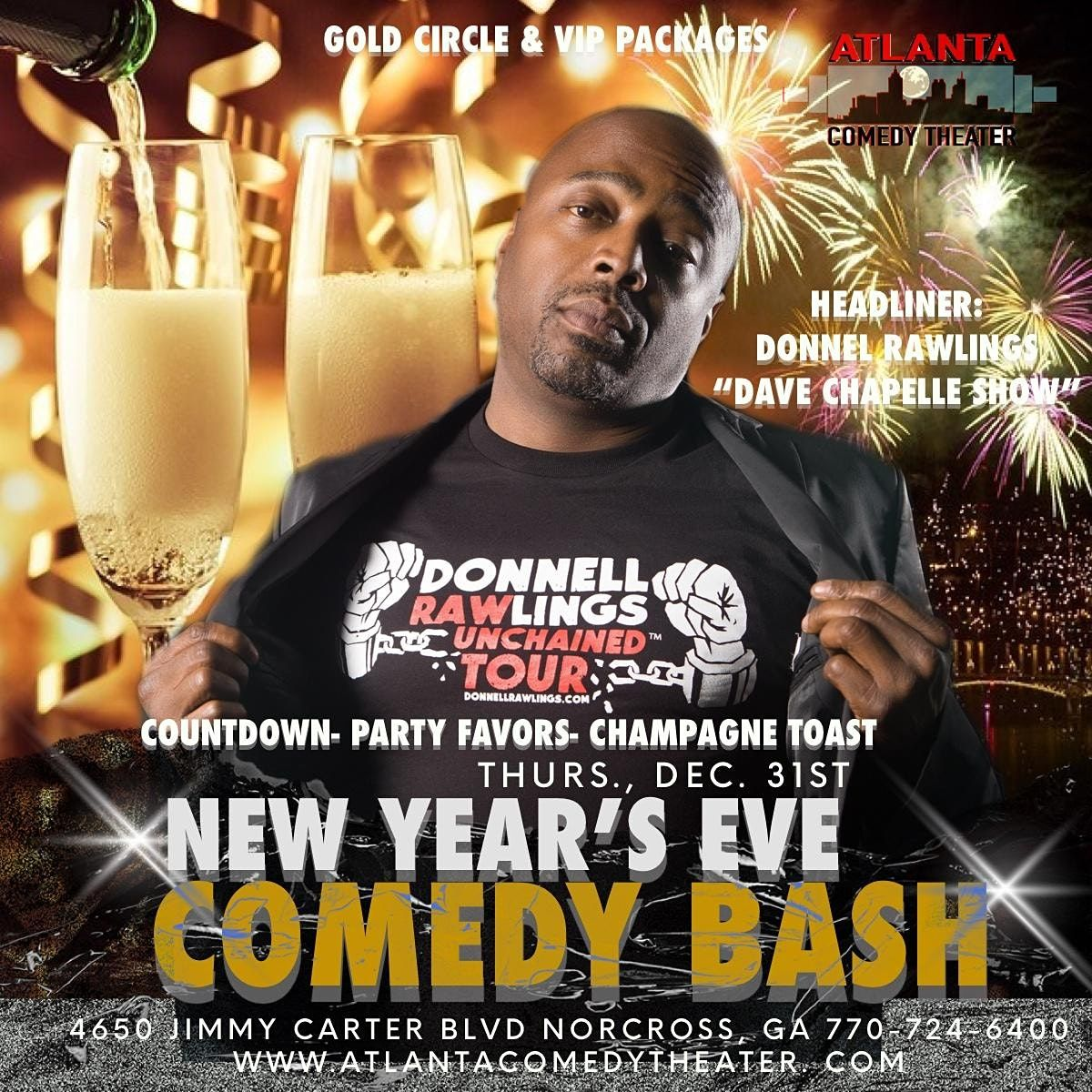 NYE 2021with DONNELL RAWLINGS COMEDY BASH, 31 December | Event in Norcross | AllEvents.in