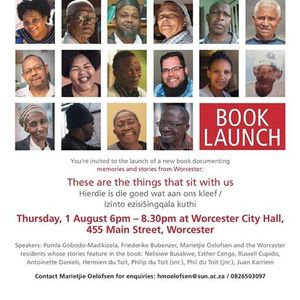 Book Launch These are the things that sit with us