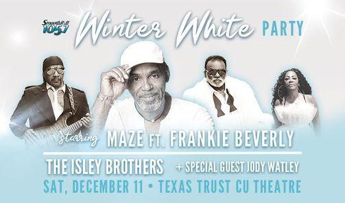 Maze featuring Frankie Beverly, Winter White Party, Grand Prairie, TX., 11 December | Event in Grand Prairie