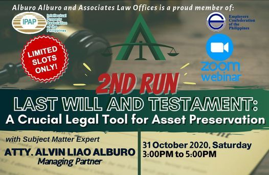 2ND RUN Last Will and Testament: A Crucial Legal Tool for Asset Preservation, 31 October   Online Event   AllEvents.in