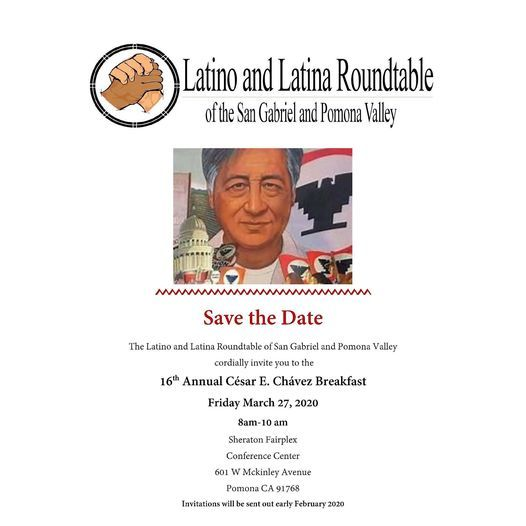 Latino and Latina Roundtable- 16th Annual Cesar Chavez Breakfast