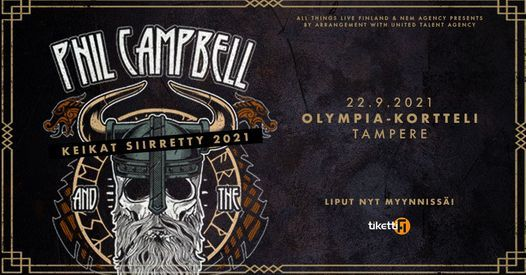 Phil Campbell - 22.9. Olympia-kortteli Tampere