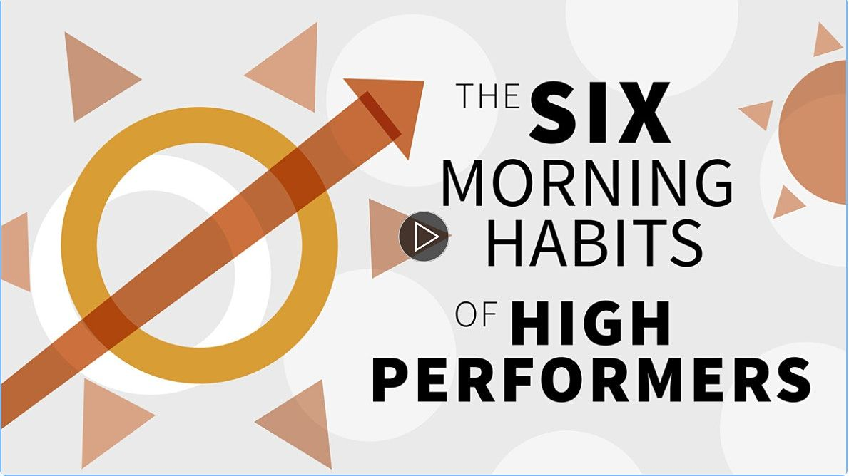 6 Morning Habits of High Performers Free Workshop | Event in New York | AllEvents.in