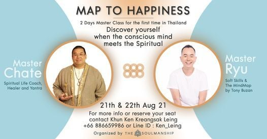 """New Date 21-22 Aug """"Map To Happiness"""" Workshop by Master Chate & Master Ryu, 21 August 