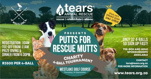 TEARS Putts for Rescue Mutts Charity 4-Ball Golf Tournament, 30 September   Event in Crossroads   AllEvents.in