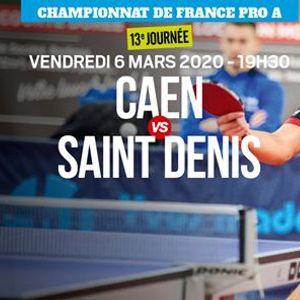 Caen - Saint Denis (Match Avanc)