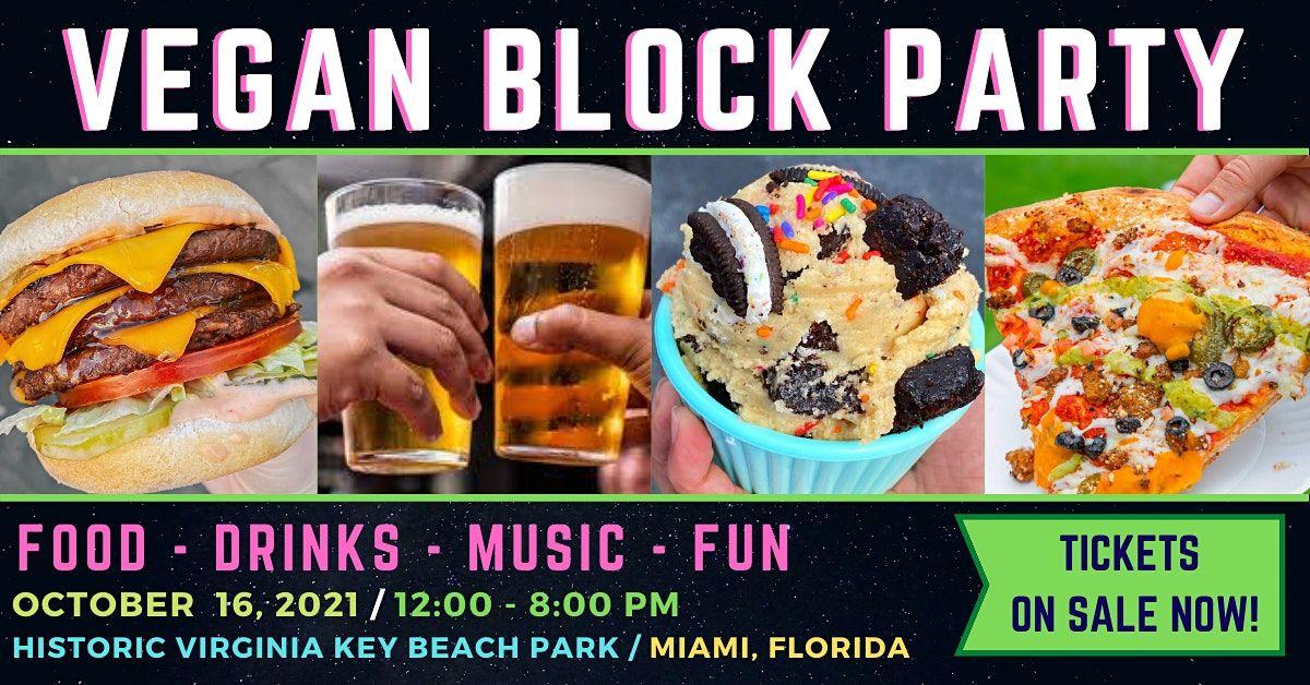 VEGAN BLOCK PARTY, 16 October | Event in Miami | AllEvents.in