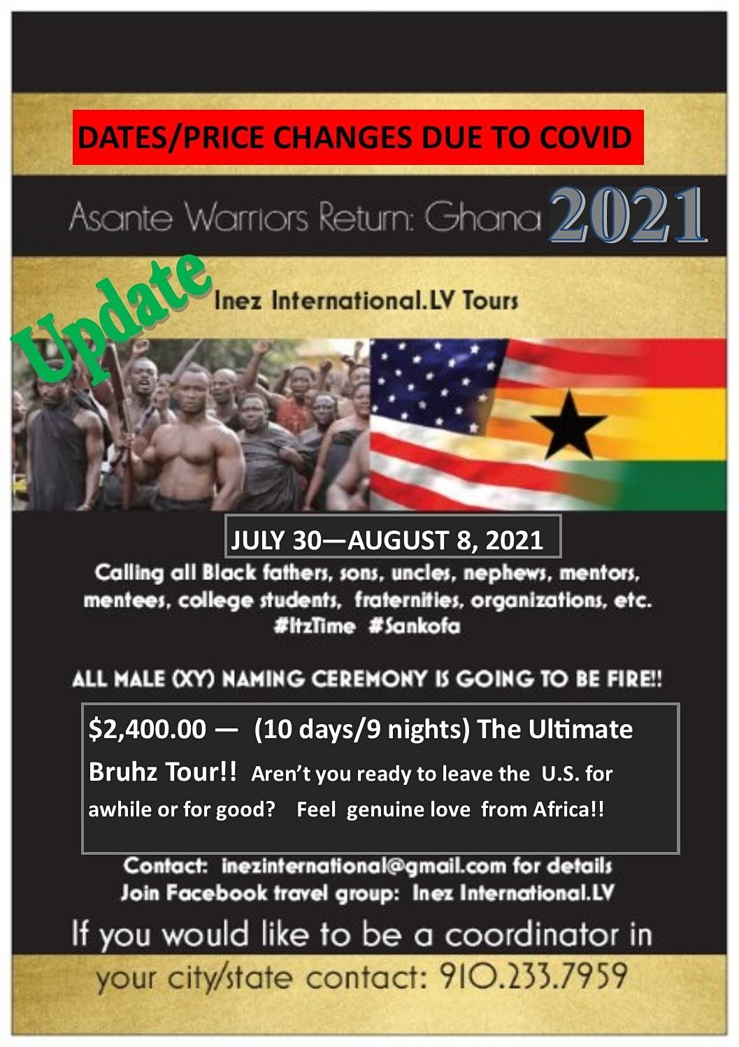 Asante Warriors Return: Ghana 2021 BRUHZ TOUR!!, 30 July | Event in Accra | AllEvents.in
