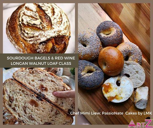 Sourdough Red Wine Bread & Bagels Class - Guest Chef Mimi Liew