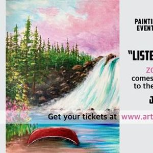 Listening to the Falls- Paint Night on Zoom