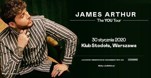 SOLD OUT  James Arthur Official Event Klub Stodoa 30.01.2020