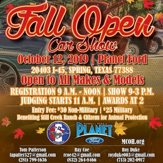 Planet Ford Houston >> Mustang Club Of Houston Fall Show At Planet Ford 45 Spring