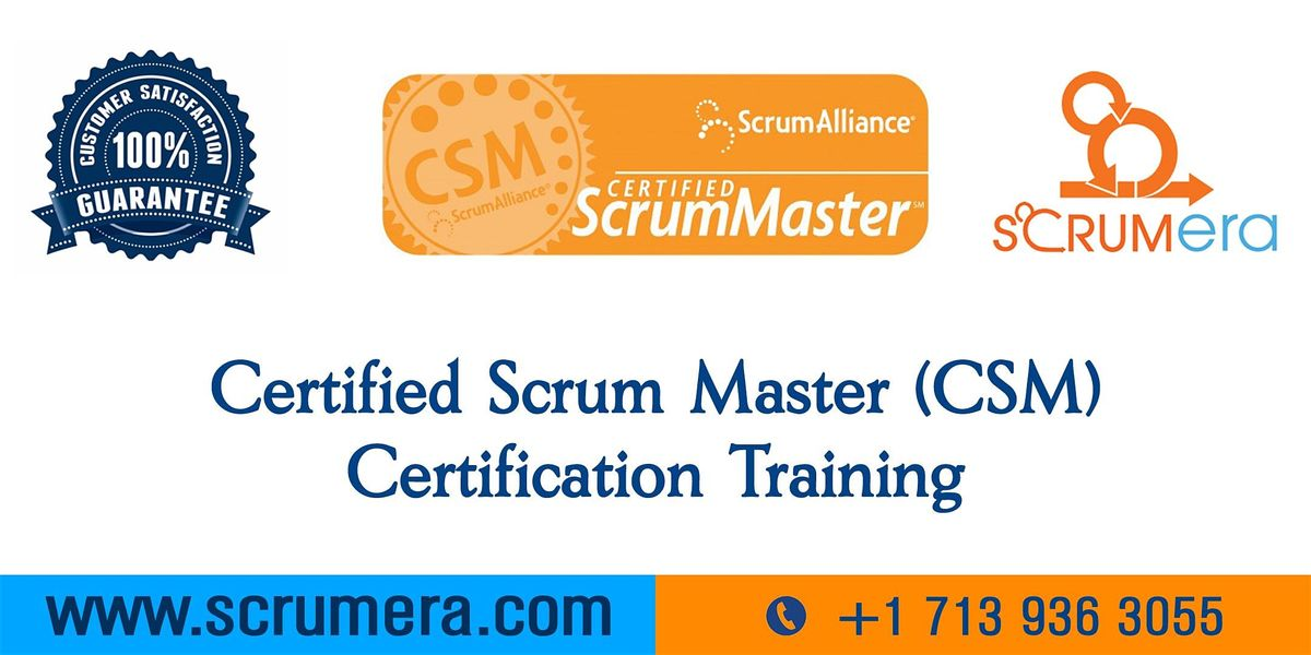 Scrum Master Certification  CSM Training  CSM Certification Workshop  Certified Scrum Master (CSM) Training in Norfolk VA  ScrumERA
