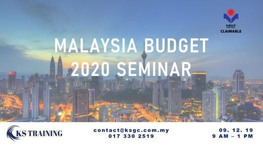 Budget 2020 Seminar [KL Event] [HRDF Claimable]