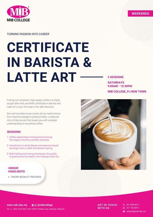 Barista & Latte Art, 3 July | Event in Petaling Jaya | AllEvents.in