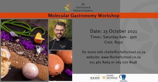 Molecular Gastronomy Workshop, 3 July | Event in Roodepoort | AllEvents.in