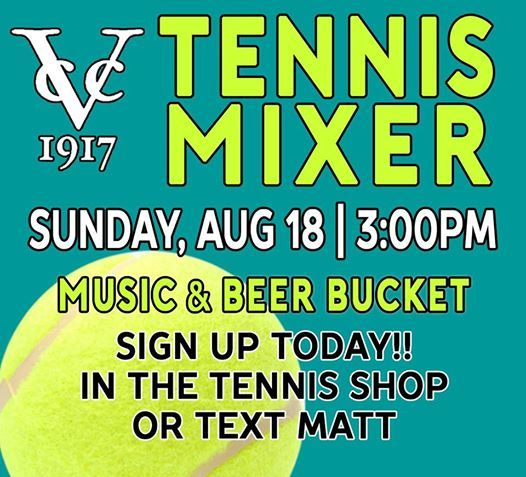 VCC Summer Tennis Mixer at Valdosta Country Club, Valdosta