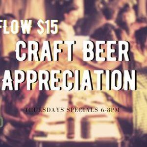 Craft Beer Appreciation Thursdays at Botanico