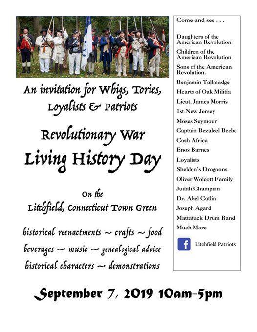 Revolutionary War Living History Day at Litchfield