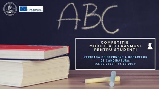 Competiie mobiliti Erasmus Plus pentru studeni