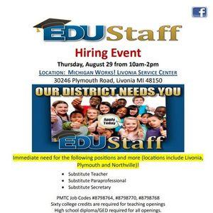 EDUStaff Hiring Event