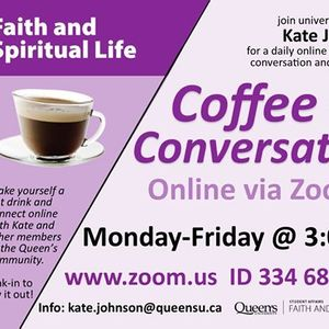 Coffee  Conversation Online via Zoom