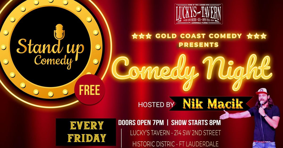 Comedy Night at Lucky's Tavern   Event in Fort Lauderdale   AllEvents.in