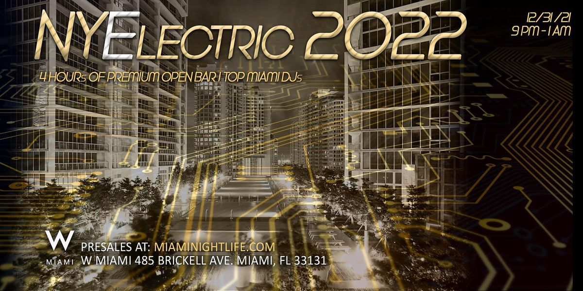 2022 W Hotel Miami New Year's Eve Party, 31 December | Event in Miami | AllEvents.in
