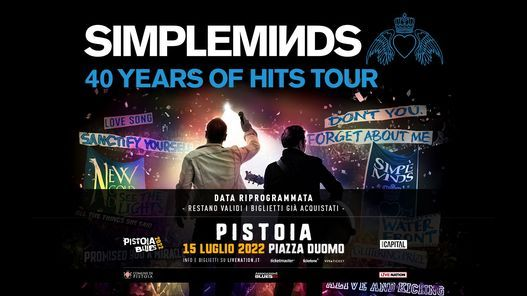 Simple Minds in concerto a Pistoia