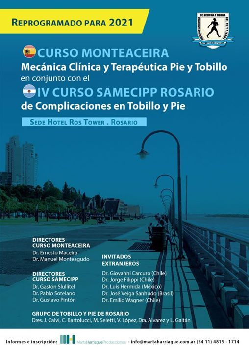 Curso Monteaceira y IV Curso SAMeCiPP Rosario de Pie y Tobillo