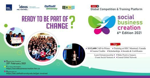 Social Business Creation (SBC) Competition-2021 | Event in Dhaka | AllEvents.in