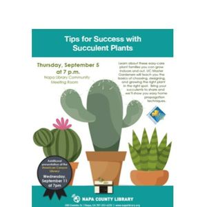 Tips for Success with Succulents Plants - Napa Library Free Talk