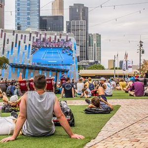Watch the Australian Open Live at Fed Square