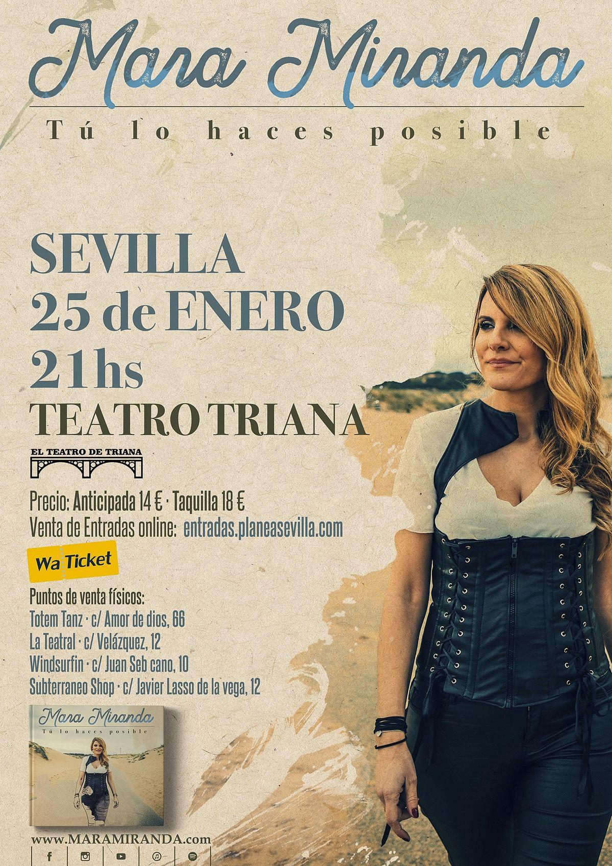 Mara Miranda presenta su nuevo disco en El Teatro de Triana, 6 November   Event in Sevilla   AllEvents.in