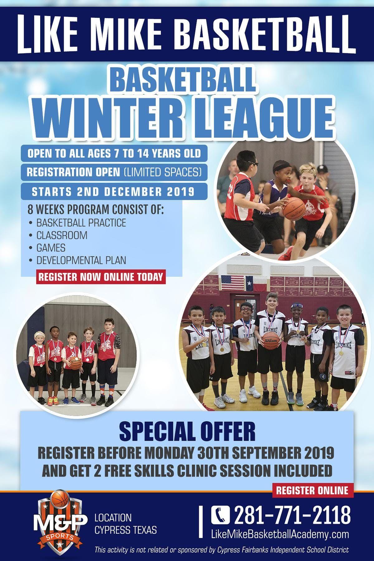 Like Mike Basketball - Winter Basketball League