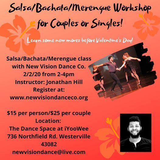 Beginner SalsaBachataMerengue for Couples or Singles