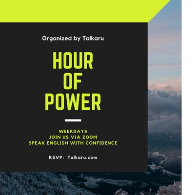Hour of Power  Business English Conversation Practice