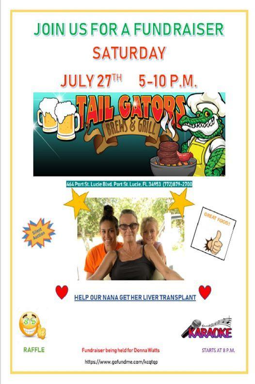 Dine & Donate Fundraiser Donna Watts at Tail-Gators Brews