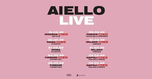 AIELLO LIVE|Meridionale Tour|nuova data!, 18 October | Event in Mugnano Di Napoli | AllEvents.in