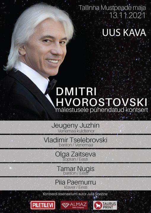 Dmitri Hvorostovski mälestuskontsert Kонцерт памяти, 10 April | Event in Tallinn | AllEvents.in