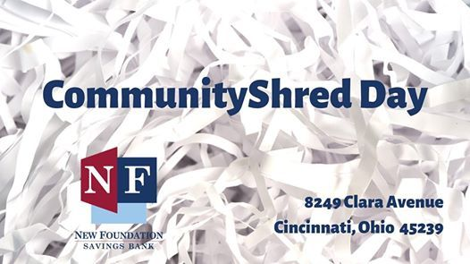 Community Shred Day 2019 at New Foundation Savings Bank, Miamitown