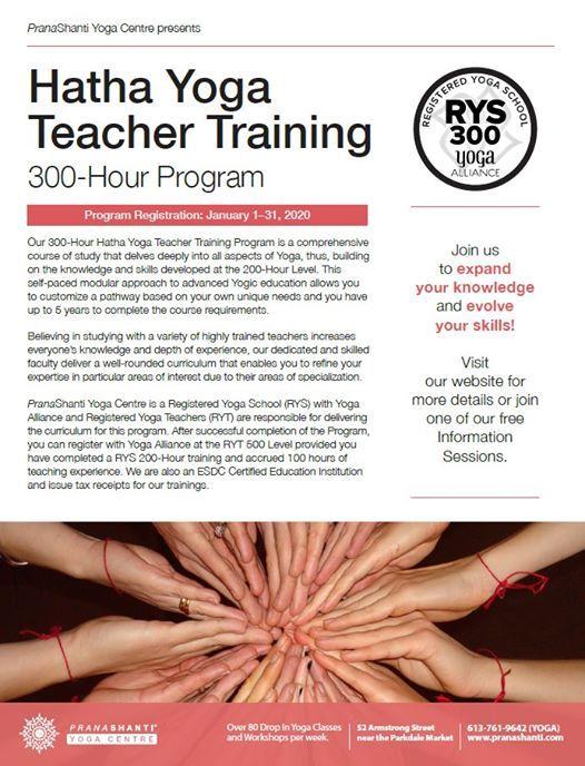 Hatha Yoga Teacher Training - 300 Hour Program - Info. Session