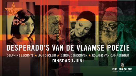 Desperado's van de Vlaamse Poëzie in De Casino (nieuwe datum), 1 June | Event in Sint-niklaas | AllEvents.in