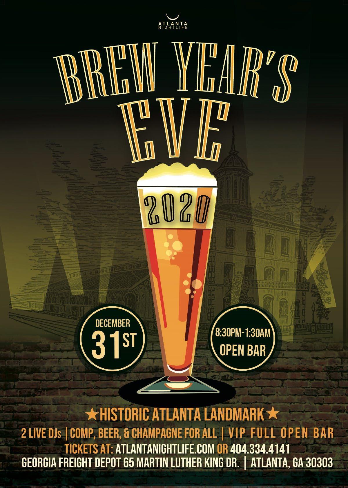 Atlanta New Years Eve 2020 Atlanta Brew Years Eve 2020 at Georgia Freight Depot, Atlanta