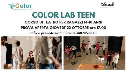 COLOR LAB TEEN - laboratorio di teatro per ragazzi (14-18 anni), 28 January | Event in Bassano del Grappa