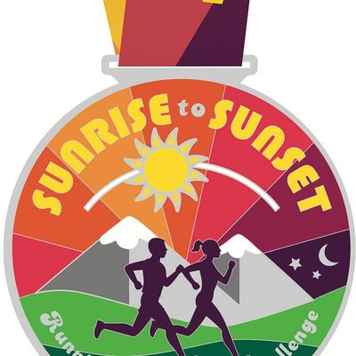 2021 Sunrise to Sunset 1M 5K 10K 13.1 26.2-Participate from Home. Save 5