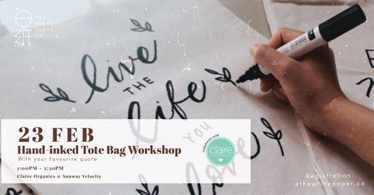 Hand-inked Tote Bag Workshop  (Faux Brush Lettering)