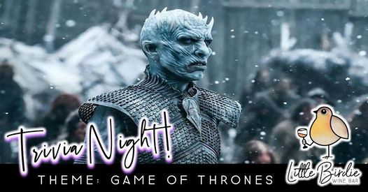 Trivia Night: Game Of Thrones, 28 December   Event in Parma   AllEvents.in