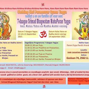 Kalas Yatra & Radha Astmi Viering 14 sept 2021